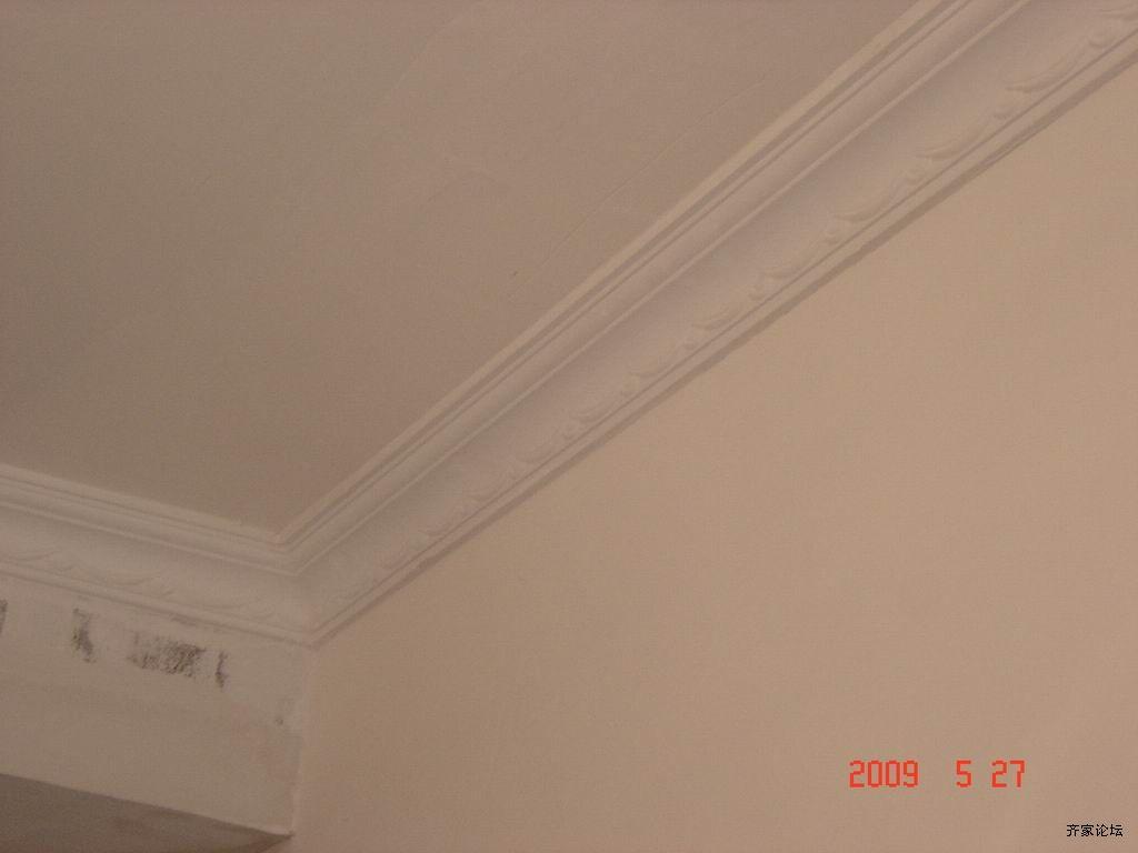 石膏阴角线安装 雅居乐豆豆妈工地石膏阴角线检查视频 高清图片
