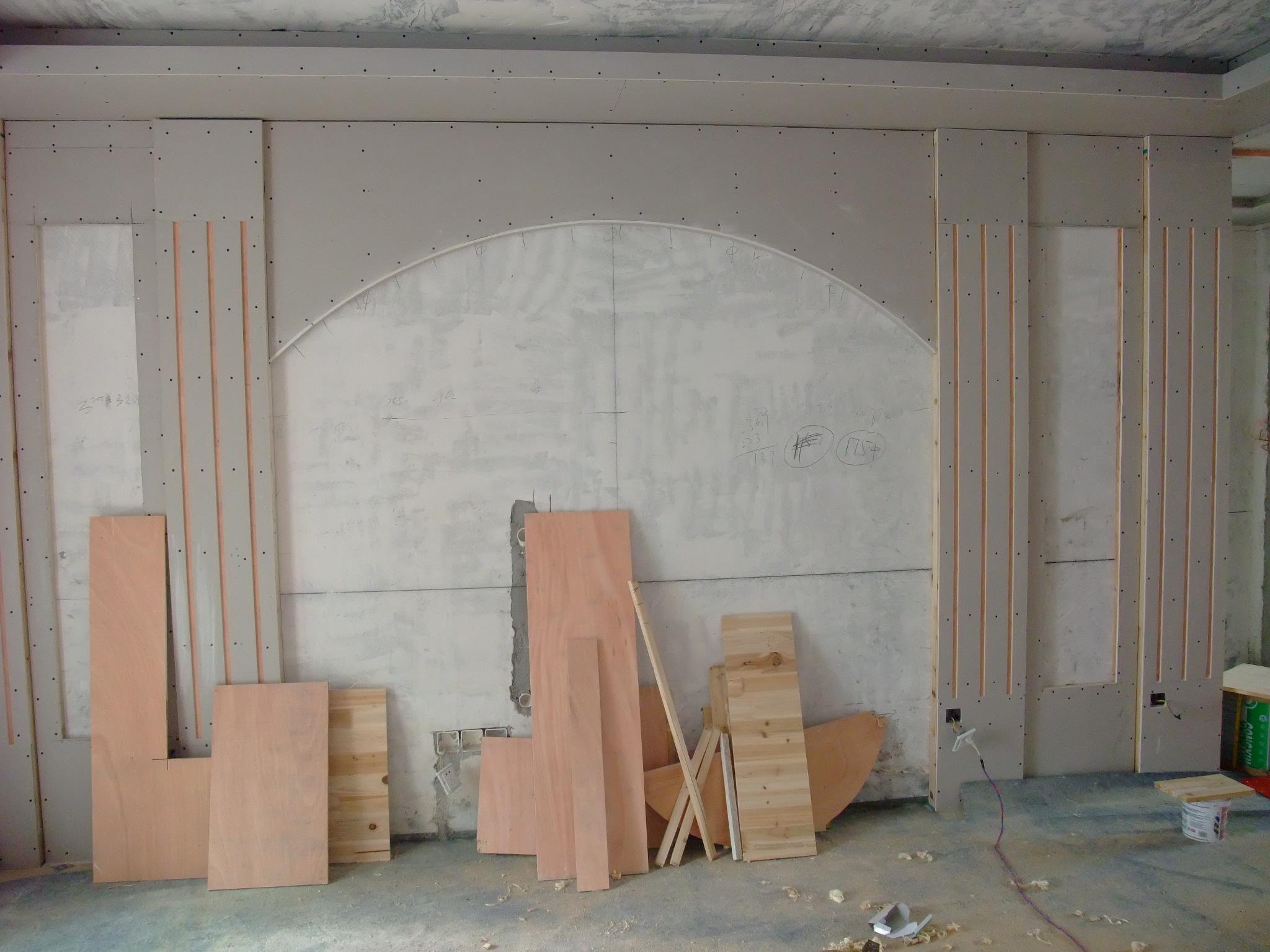 2015年木工电视墙_现代电视墙木工造型_木工中式电视 ...
