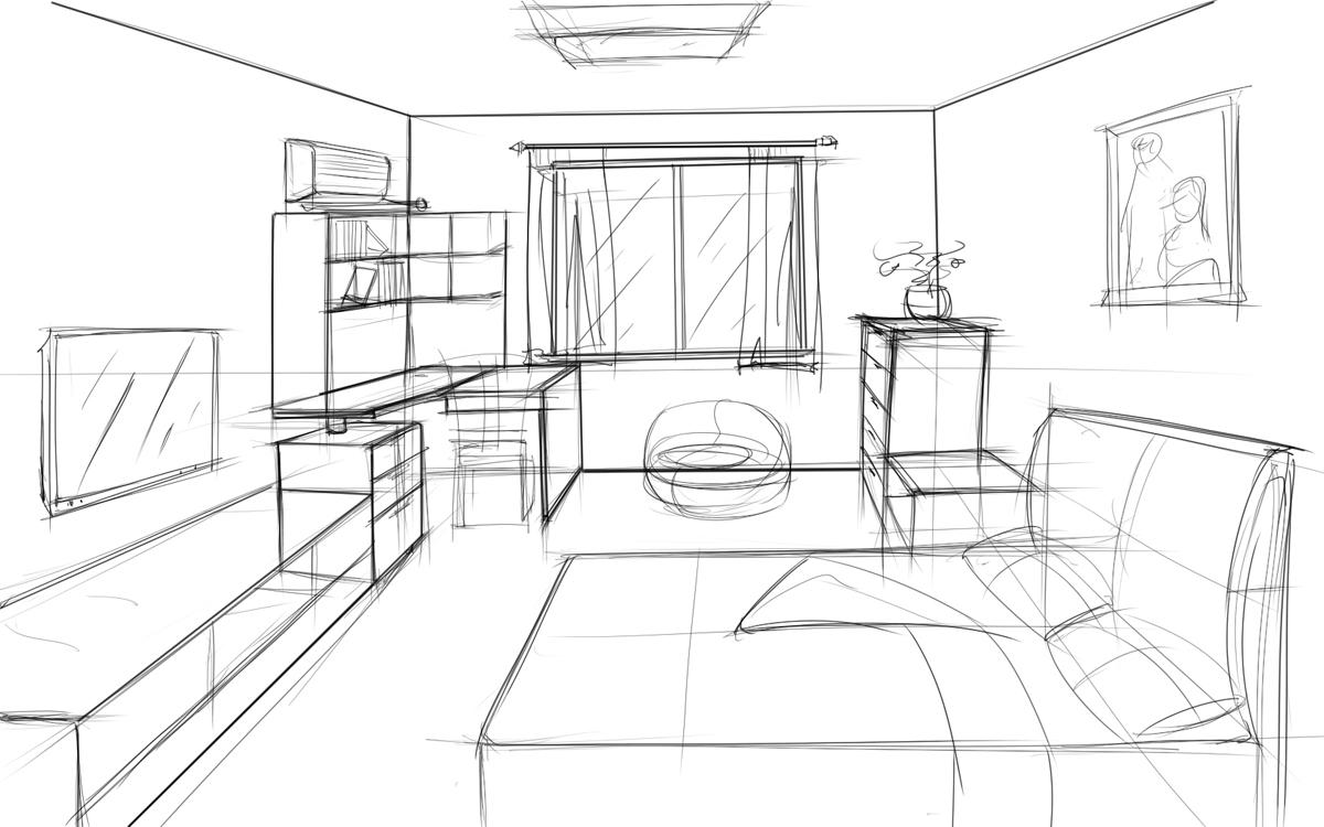 家具 手绘图/发个手绘图 ,想定卧房家具 这样
