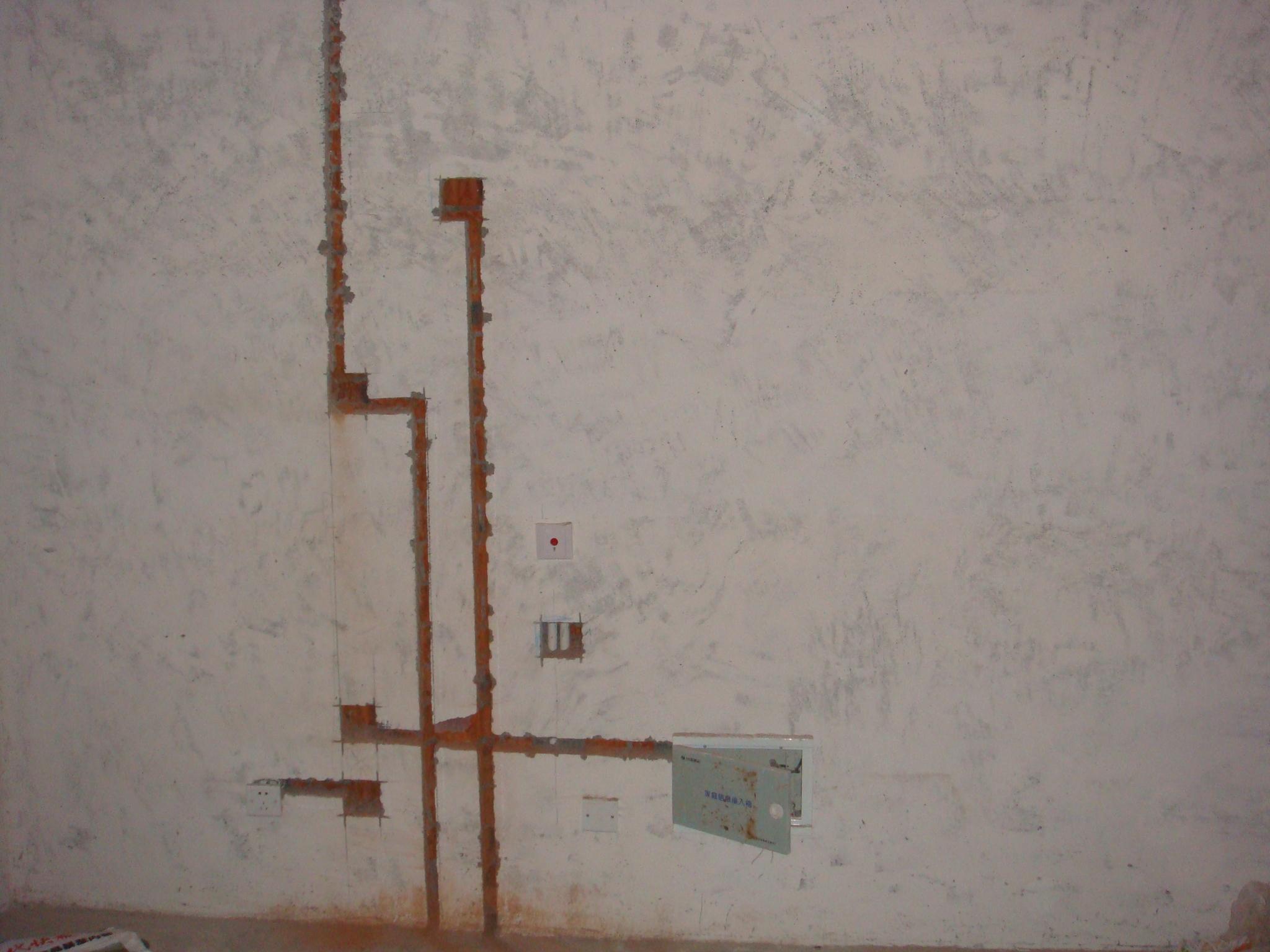 冰糖葫芦的婚房 水电布线开槽进行时 装修日记 齐家论坛 装修交流尽在高清图片