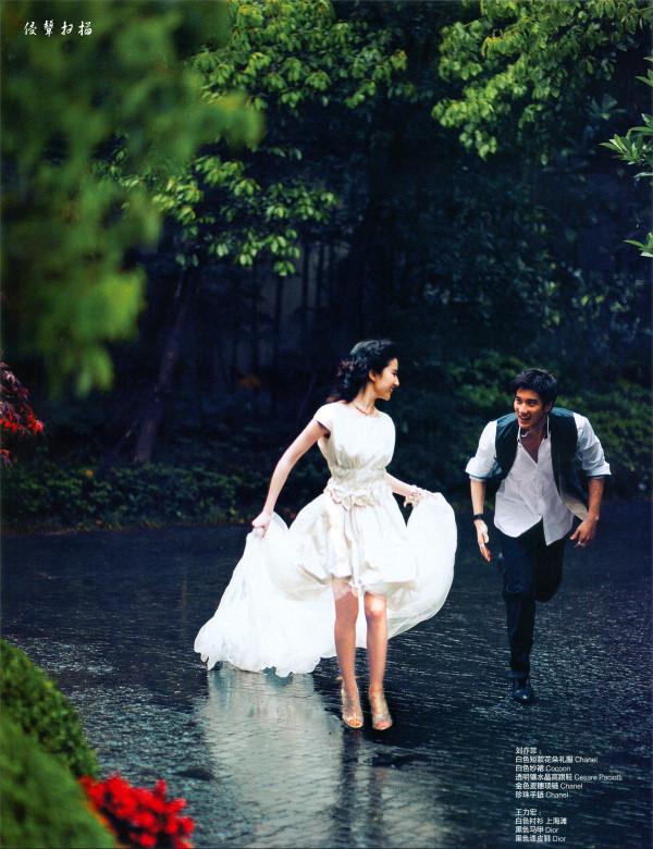 王力宏和刘亦菲的婚纱照图片