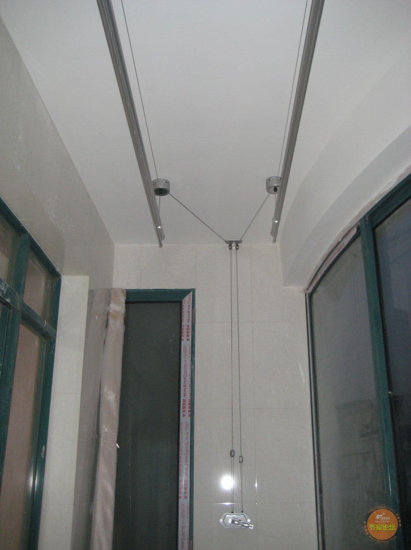 升降晾衣杆安装效果图,升降晾衣杆的安装方法,升降晾衣杆,阳台