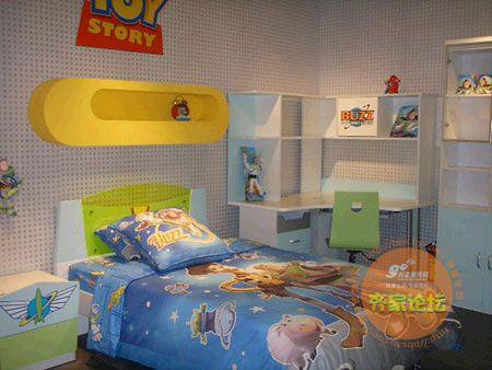动漫主题房间_男孩子的房间,灰色细格子的 ...