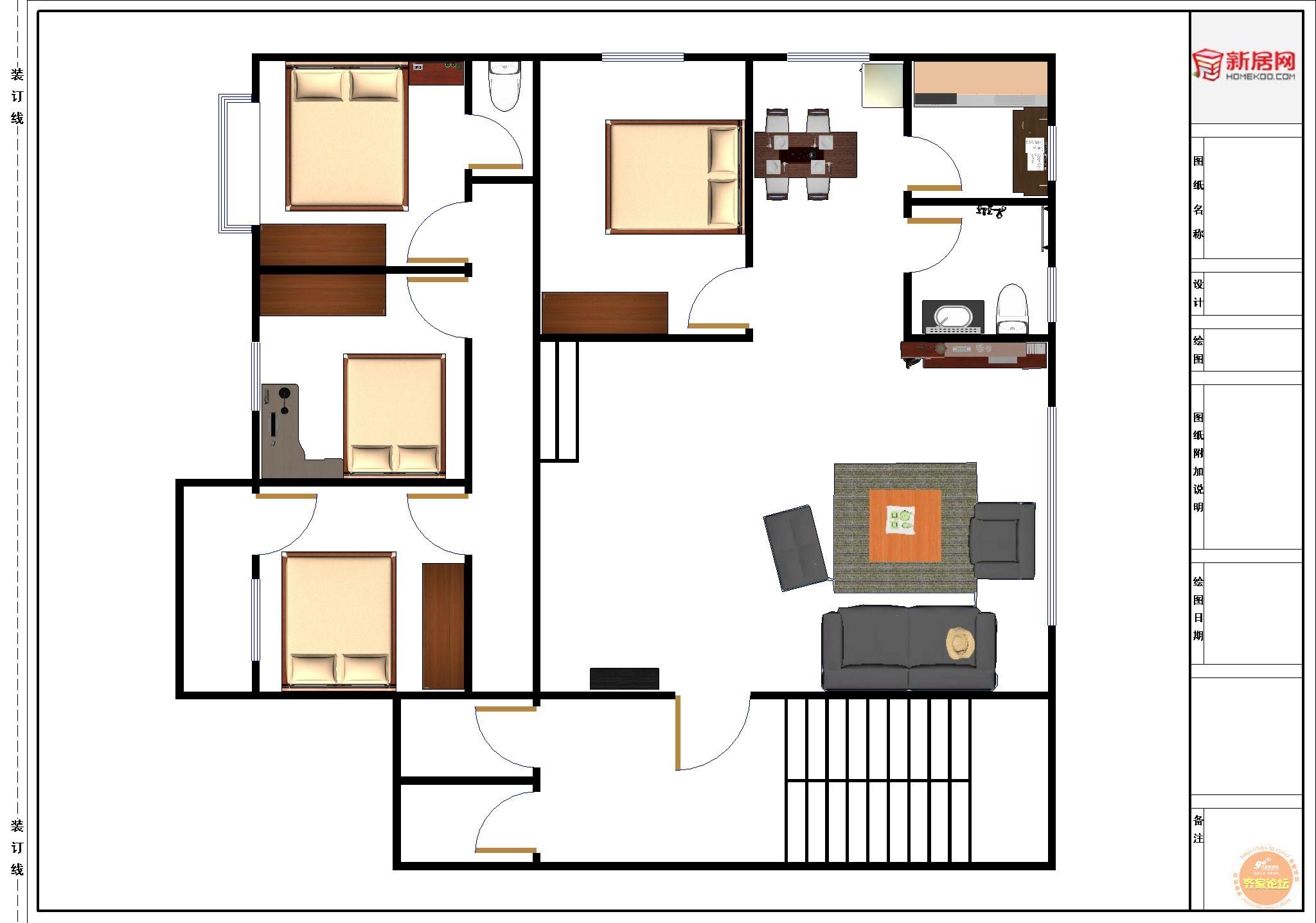 图,90平方米自建房设计图,100平方自建房设计图(第4页图片