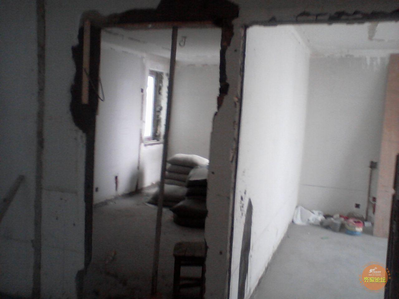 369的装修日记 开始做影视墙,我家的木工和电工是一个人齐家论坛 高清图片