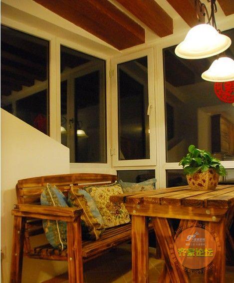 60平米美式乡村家居 小屋檐下蕴藏大大的爱(图)图片