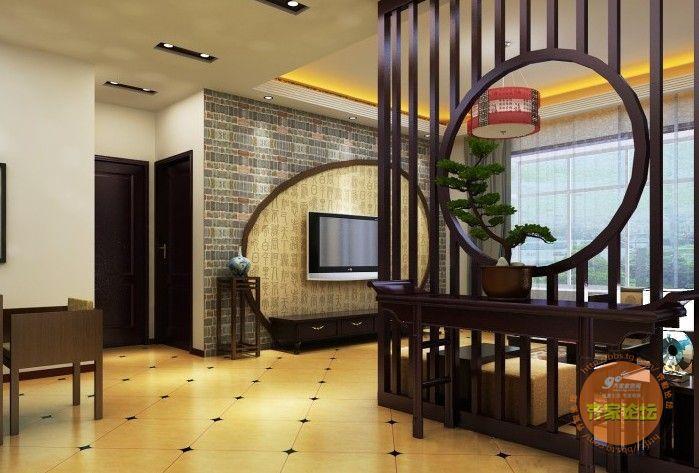 新中式装修玄关设计都应该注意些什么 齐家论坛 装修设计交流 家居设高清图片
